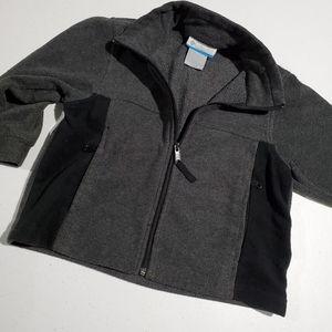 Columbia Jackets & Coats - Columbia boys 4/5 gray & Black fuzzy jacket